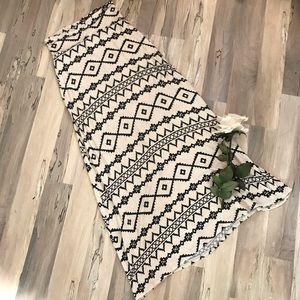 American Rag Aztec Print Maxi Skirt